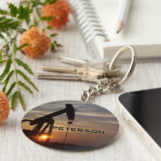 Oil Fields monogram Keychain