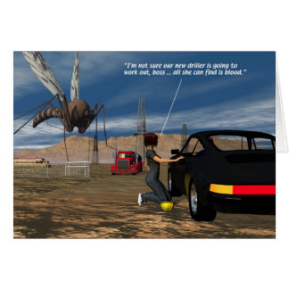 Oil Fields - Mosquito Driller Greeting Card
