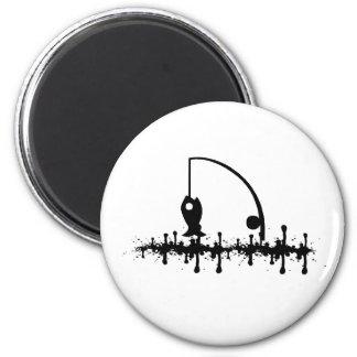 Oil Fish 2 Inch Round Magnet
