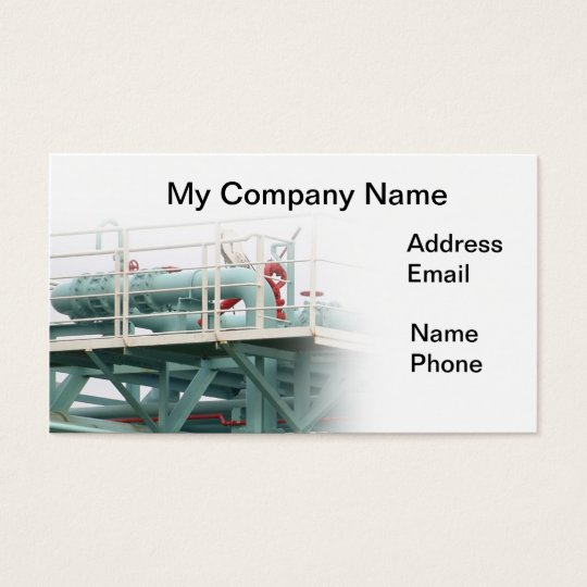Oil, Gasoline and Heating Oil Pipeline Business Card
