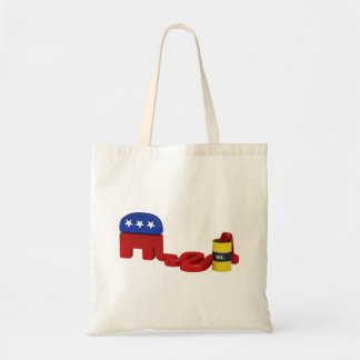 Oil hungry Republicans Canvas Bags