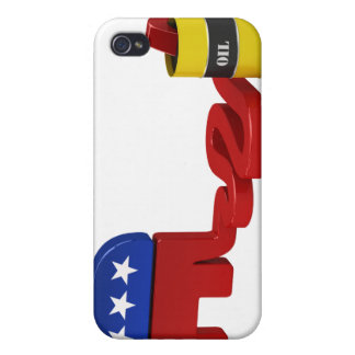 Oil hungry Republicans - iPhone 4 Case