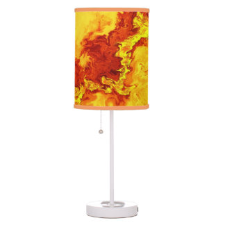 Oil in orange and yellow lamp