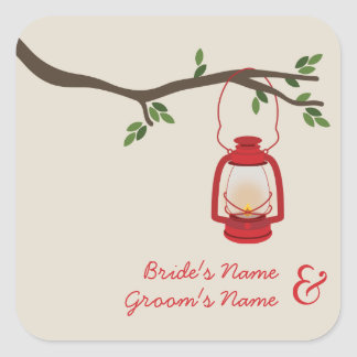 Oil Lamp Camping / Outdoor Wedding Sticker