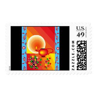 Oil lamp stamp