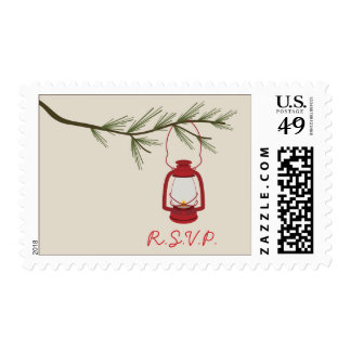 Oil Lantern Evergreen Tree Camping R.S.V.P. Stamps