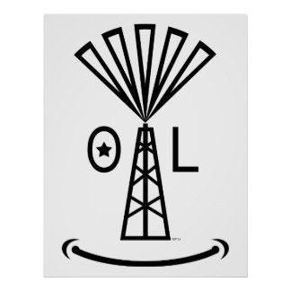 Oil Makes Me Smile Print