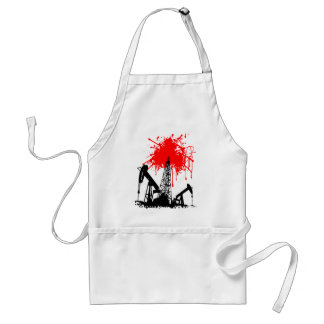 Oil of blood adult apron
