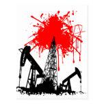 Oil of blood postcard
