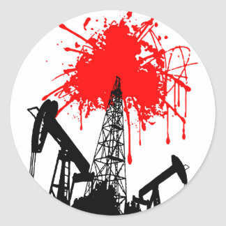 Oil of blood sticker