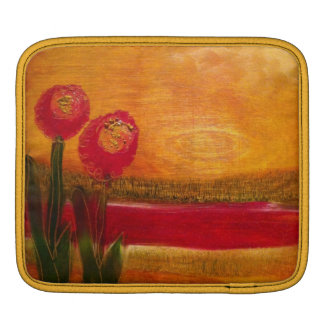 """Oil on Birch 1 and 3"" Floral design by LeanneSari iPad Sleeve"