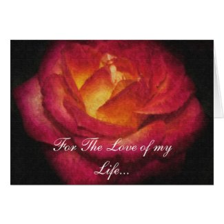 Oil Paint Rose Greeting Cards