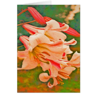 Oil Painted Lilies Greeting Cards