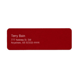 Oil Painted Looking Red Metal Texture Label