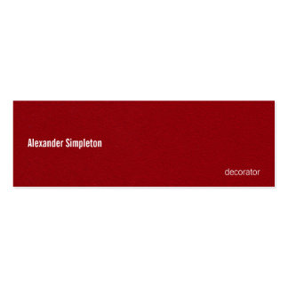 Oil Painted Looking Red Metal Texture Mini Business Card
