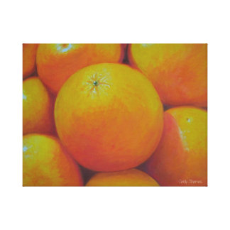 oil painted oranges canvas print