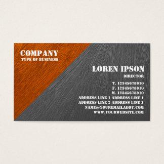 Oil Painted Triangular Corner - Orange and Gray Business Card