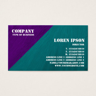 Oil Painted Triangular Corner - Purple and Green Business Card