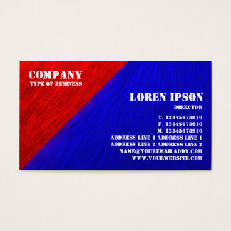 Oil Painted Triangular Corner - Rad and Blue Business Card