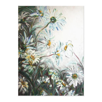 """Oil painting """"chamomile"""". Exclusive wall Canvas Print"""