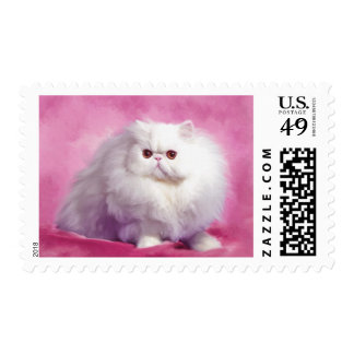 Oil Painting-Chip-Cat-Stamps Postage
