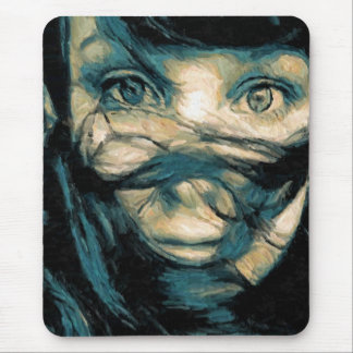 Oil Painting : Eyes of Faith Mouse Pad