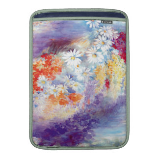 Oil painting flowers abstract MacBook sleeve