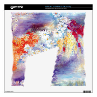 Oil painting flowers abstract xbox 360 s skin