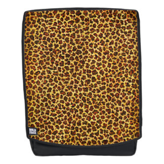 Oil Painting Look Leopard Spots Backpack