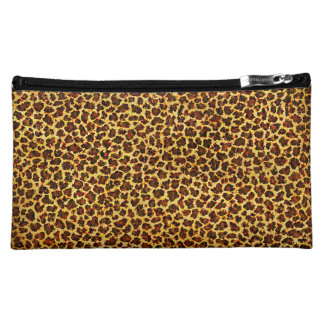 Oil Painting Look Leopard Spots Cosmetic Bag