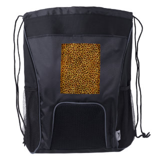 Oil Painting Look Leopard Spots Drawstring Backpack