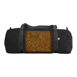 Oil Painting Look Leopard Spots Duffle Bag