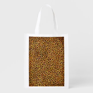 Oil Painting Look Leopard Spots Grocery Bag