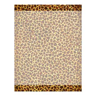 Oil Painting Look Leopard Spots Letterhead