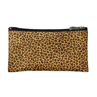 Oil Painting Look Leopard Spots Makeup Bag