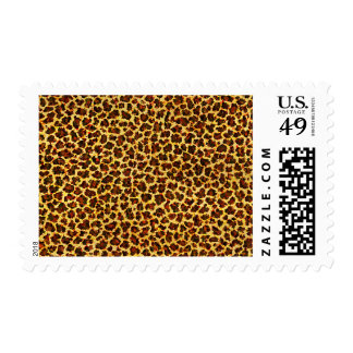 Oil Painting Look Leopard Spots Postage