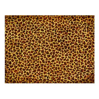 Oil Painting Look Leopard Spots Postcard