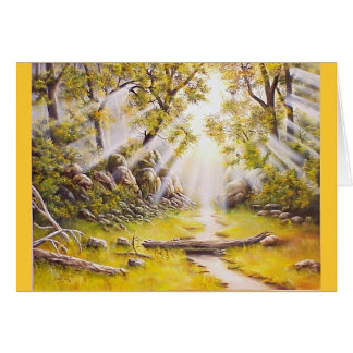 Oil Painting Morning Dew Card