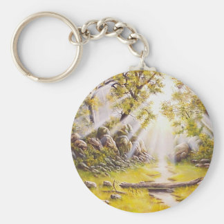 Oil Painting Morning Dew Keychain