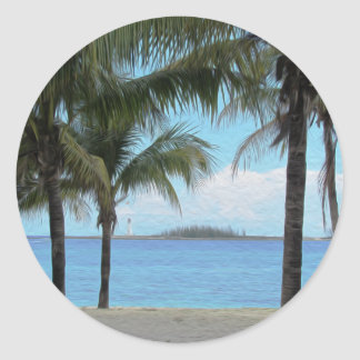 Oil Painting Nassau Bahamas Stickers