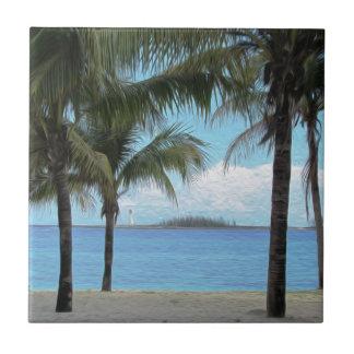 Oil Painting Nassau Bahamas Tiles