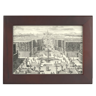 Oil Painting of Fountains at Garden of Versailles Keepsake Box