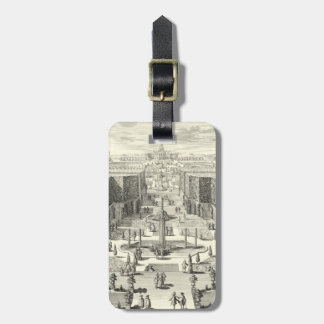 Oil Painting of Fountains at Garden of Versailles Luggage Tag