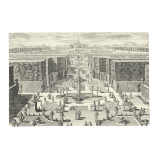 Oil Painting of Fountains at Garden of Versailles Placemat