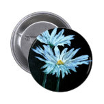 oil painting of white daisy flowers modern art 2 inch round button