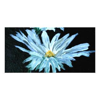oil painting of white daisy flowers modern art card