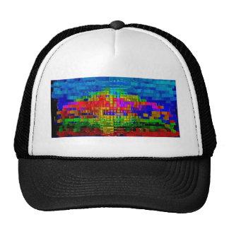 oil painting, original, modern,  abstract fine art trucker hat