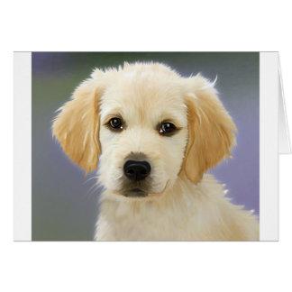 Oil Painting Portrait Of Labrador Retriever Puppy Greeting Card