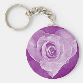 Oil Painting : Rosy Love Keychain