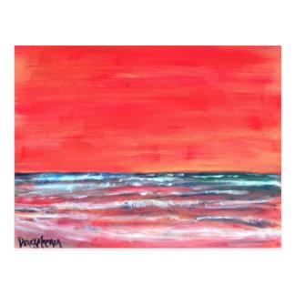 oil painting seascape modern art post card
